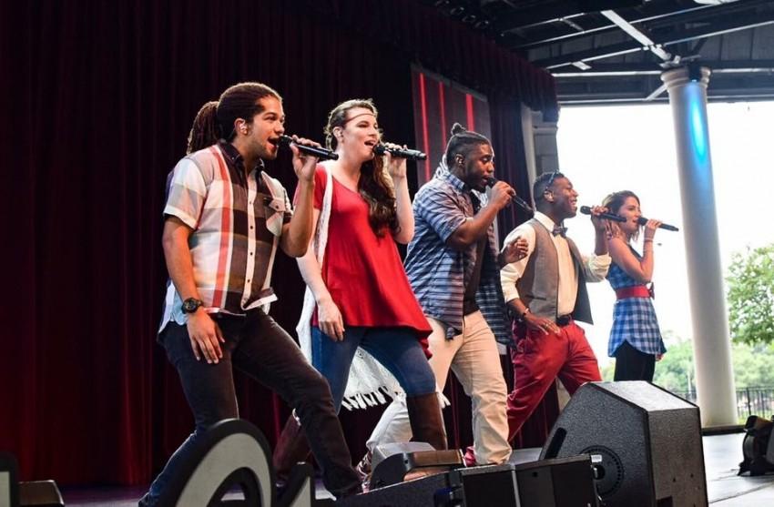 katie pinder brown on stage in orlando