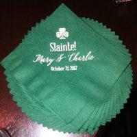 Riverside Inn Wedding napkins