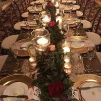 Riverside Resort Wedding Event table setting