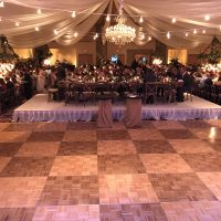 Riverside Resort Wedding Event head table
